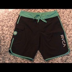 """RVCA 9"""" inseam board shorts"""